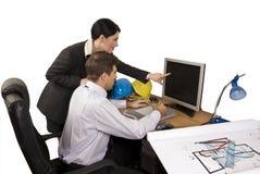 Equipe do arquiteto no escritório