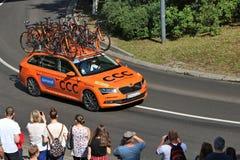 Equipe do ciclismo do CCC pro Foto de Stock Royalty Free
