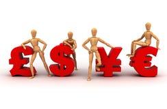 Equipe do dinheiro (com trajeto de grampeamento) Imagens de Stock Royalty Free