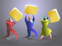 Equipe do dobrador ilustração do vetor