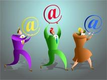 Equipe do email Imagens de Stock Royalty Free
