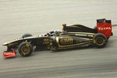 Equipe do Fórmula 1 de Lótus-Renault: Nick Heidfeld imagens de stock