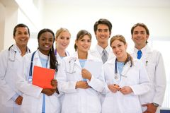 Equipe do hospital Foto de Stock Royalty Free
