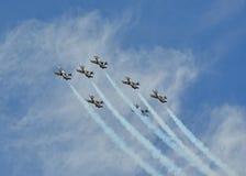 Equipe do jato de Breitling Fotografia de Stock Royalty Free