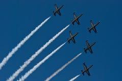 Equipe do jato de Breitling Imagem de Stock