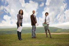 Equipe do negócio ao ar livre Fotografia de Stock