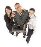 Equipe do negócio com caderno fotos de stock
