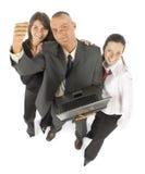 Equipe do negócio com caderno imagem de stock royalty free