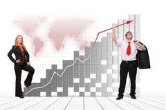 Equipe do negócio - crescimento financeiro Fotos de Stock Royalty Free