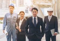 Equipe do negócio da engenharia Imagem de Stock Royalty Free