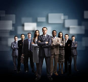 Equipe do negócio dada forma dos jovens Fotos de Stock