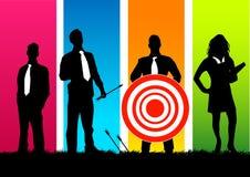 Equipe do negócio do alvo ilustração stock