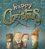 Equipe do negócio do cumprimento do Natal Fotos de Stock Royalty Free