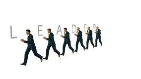 Equipe do negócio e LÍDER Text contra a metragem branca, alfa, conservada em estoque ilustração royalty free