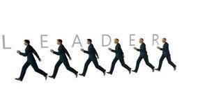 Equipe do negócio e LÍDER Text contra o branco, metragem conservada em estoque ilustração do vetor