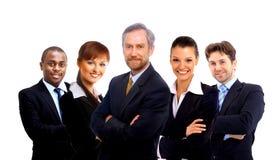 Equipe do negócio e um líder Fotografia de Stock Royalty Free