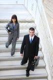 Equipe do negócio em escadas Imagens de Stock