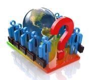 Equipe do negócio em resolver o problema global Foto de Stock Royalty Free