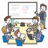 A equipe do negócio está discutindo edições de negócio ilustração royalty free