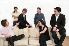 Equipe do negócio - fazendo o ponto Foto de Stock