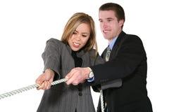 Equipe do negócio (foco na mulher) Foto de Stock Royalty Free