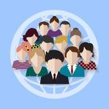 Equipe do negócio grupo em redes sociais Foto de Stock