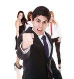 Equipe do negócio isolada Imagens de Stock