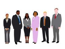 Equipe do negócio isolada Imagem de Stock
