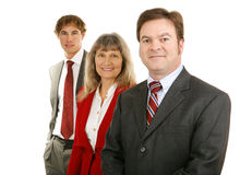 Equipe do negócio - líder masculino maduro Fotos de Stock Royalty Free