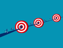 Equipe do negócio para visar o sucesso e o crescimento para o negócio Foto de Stock