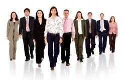 Equipe do negócio que anda para a frente Fotos de Stock