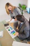 Equipe do negócio que discute em um escritório Imagem de Stock