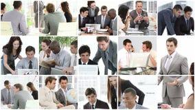 Equipe do negócio que mostra o espírito dos trabalhos de equipa no negócio filme