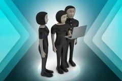 Equipe do negócio que olha um portátil Imagens de Stock