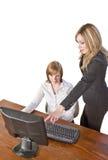 Equipe do negócio que trabalha no computador Foto de Stock