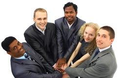Equipe do negócio isolada sobre Fotos de Stock Royalty Free