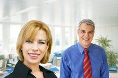 Equipe do negócio no escritório Fotografia de Stock Royalty Free