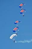Equipe do paraquedas de RAF Falcons Fotografia de Stock Royalty Free