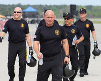 Equipe do paraquedas do exército de Estados Unidos Imagens de Stock Royalty Free