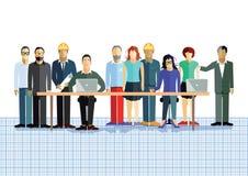 Equipe do planeamento ilustração royalty free