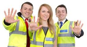 Equipe do protetor de segurança foto de stock