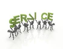 Equipe do serviço ao cliente Imagens de Stock Royalty Free