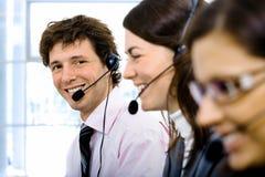 Equipe do serviço de atenção a o cliente Imagens de Stock Royalty Free