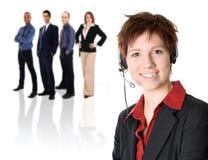 Equipe do serviço de atenção a o cliente Fotografia de Stock