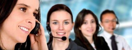 Equipe do serviço do cliente empresa Fotografia de Stock
