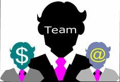 Equipe do sucesso comercial do homem Imagem de Stock Royalty Free
