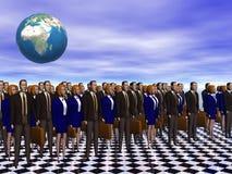 A equipe do sucesso para o negócio mundial. Imagem de Stock