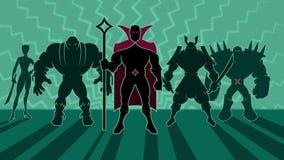 Equipe do Supervillain ilustração royalty free