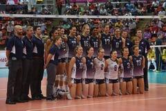Equipe do voleibol dos EUA Foto de Stock Royalty Free