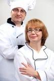 Equipe dos cozinheiros chefe Fotos de Stock Royalty Free